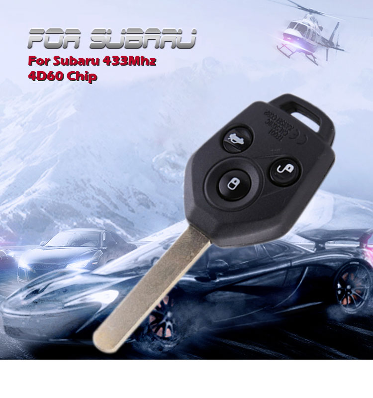 AK034012 for Subaru outback straight remote control key 4D60 433MHZ