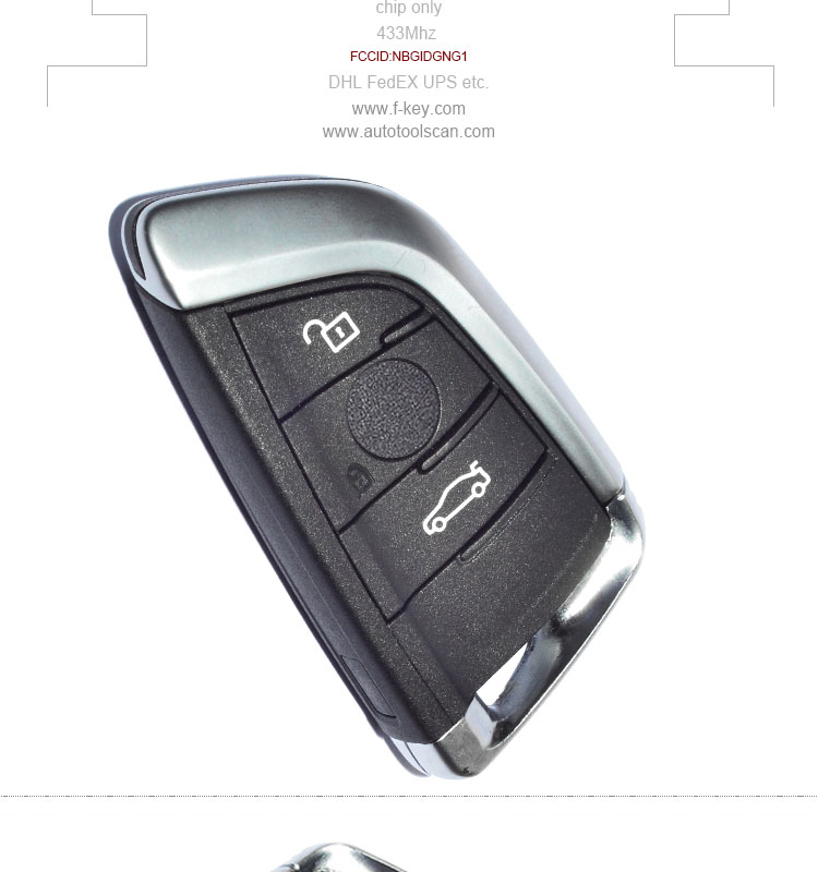 AK006057 New Uncut Remote Car Key Fob 3B 433MHz for BMW X5 X6 2014-2016 FCC:NBGIDGNG1