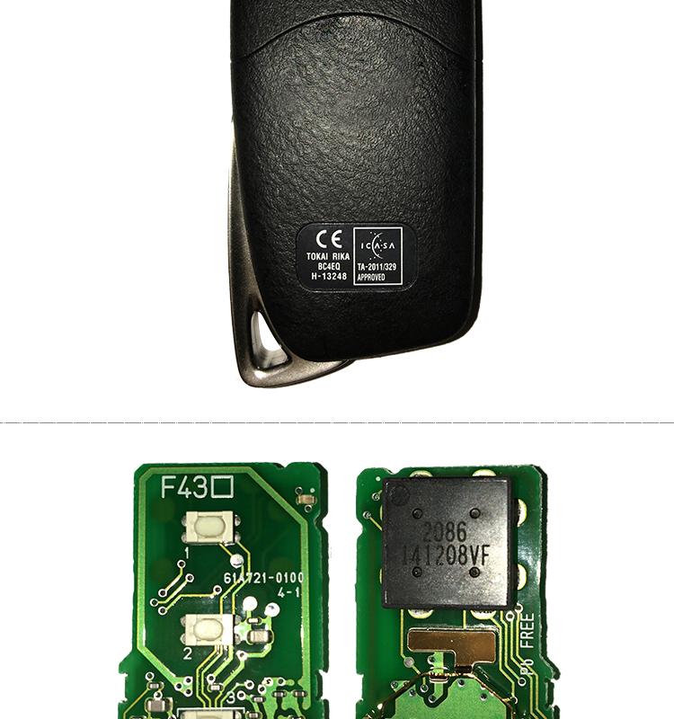 AK052009 Origina for Lexus smart card 3+1buttons  434MHZ 8A Chip 61A721-0100 BC4EQ