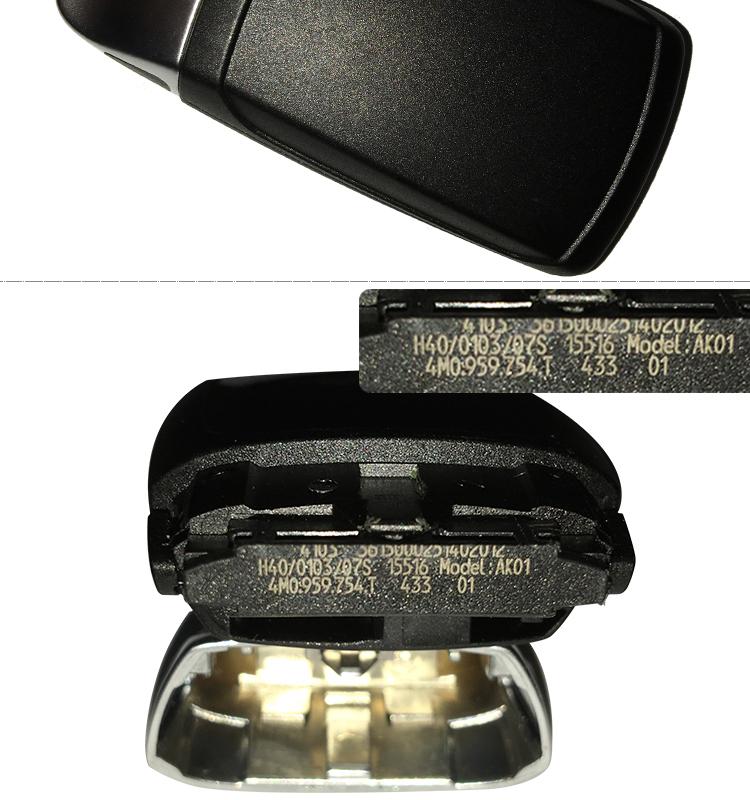 AK008041 Original For Audi Q7 3 Button 433mhz 4M0 959 754T